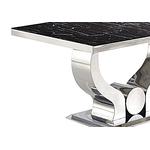 Table manger chromé marbre noir NEA-1