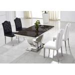 Table manger chromé marbre noir NEA-2
