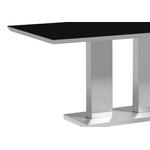 Table manger inox verre trempé IZA.1