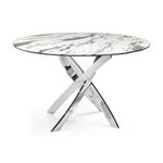 Table manger ronde chromé marbre DESIGN