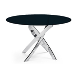 Table manger ronde chromé noir DESIGN