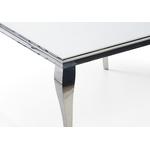 Table repas carré chromé blanc NEO.1