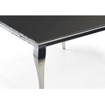 Table repas carré chromé noir NEO.1