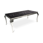 Table repas chromé marbre noir NEO-XL