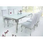 Table repas chromé verre blanc NEO-XL-1
