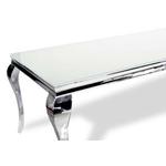 Table repas chromé verre blanc NEO-XL-2