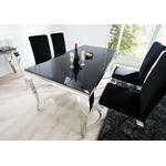 Table repas chromé verre noir NEO XL-10