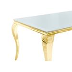 Table repas doré verre blanc NEO.1