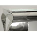 Table repas-basse chromé verre blanc NEO