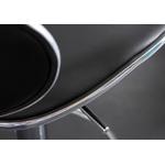 Tabourets bar design noir LORIS.3