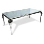 Table repas chromé miroir NEO