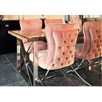 Chaises design capitonné rose ENZO.2