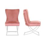 Chaises design capitonné rose ENZO.1