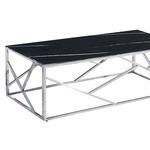 Table basse chromé marbre noir ILÉA.1