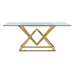 Table repas design doré verre LUXOR.2