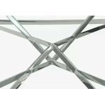 Table basse design chromé verre LUXOR.3