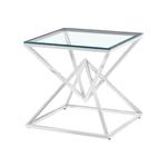 Bout canapé design chromé verre LUXOR.10