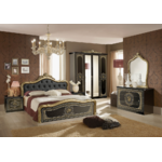 chambre-alice-capitonné-noir-or