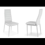 Lot de 4 chaises design blanc FLY.2