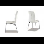 Lot de chaises chromé cuir blanc DEA.3