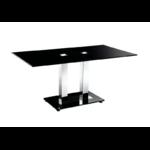 Table basse chromé verre trempé FLAT.1