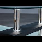 Table basse laqué noir verre trempé TOE.3