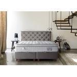 Lit coffre + tête de lit + matelas 160x200 PRINCE-KARYA Taupe