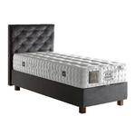Lit coffre + tête de lit + matelas 90x190 ÉLITE POCKET-KARYA Gris.1
