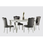 table-repas-chaise-baroque-cristal