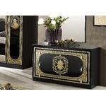 Chambre complète laqué noir doré SOFIA-4