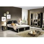 Chambre complète laqué noir doré SOFIA-1
