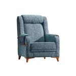 Fauteuil tissu bleu ÉROS-1