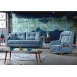 Canapé lit tissu bleu ÉROS