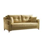Canapé lit tissu jaune ÉROS-2