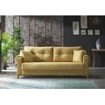 Canapé lit tissu jaune ÉROS-1