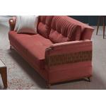 Canapé lit tissu rose PETEK-3