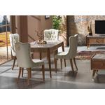 Table + chaise bois marbré ERVA