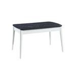 Table + chaise blanc marbré ERVA-1