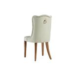 Chaise capitonné crème ERVA-2