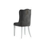 Chaise capitonné gris ERVA-2