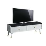 Meuble tv blanc marbré ERVA-3