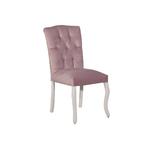 Chaise capitonné rose BAROK-1