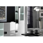 Mur TV laqué noir blanc AURORA-2