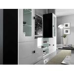 Mur TV laqué noir blanc AURORA-1