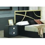 Chambre complète noir doré MILANO-1