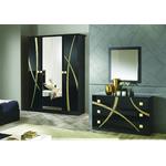 Chambre complète noir doré MILANO-3