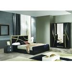 Chambre complète noir doré MILANO-2