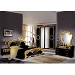 Chambre capitonné noir doré SIBILLA I