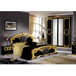 Chambre capitonné noir doré SIBILLA-2