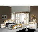 Chambre capitonné blanc doré SIBILLA I